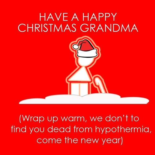 Christmas card hypothermia
