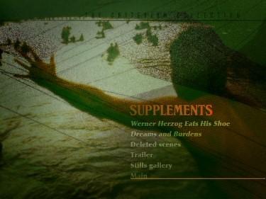 DVD supplements menu