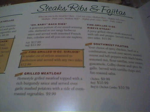 Bennigan's Menu