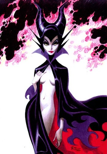 Maleficient (Bruce Timm - sketch)