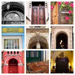 'Doors' mosaic