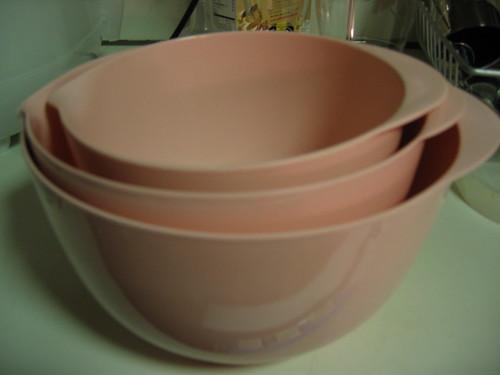 Pink Mixing Bowls
