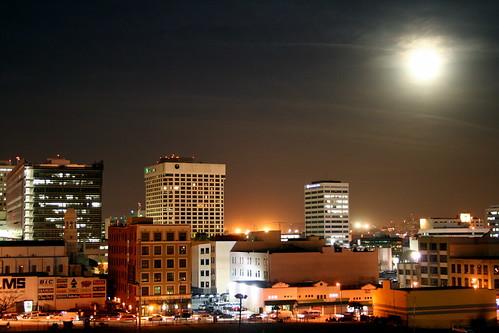 full moon over little tokyo