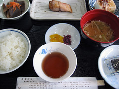 the Japanese breakfast 朝食