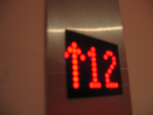 An elevator floor display
