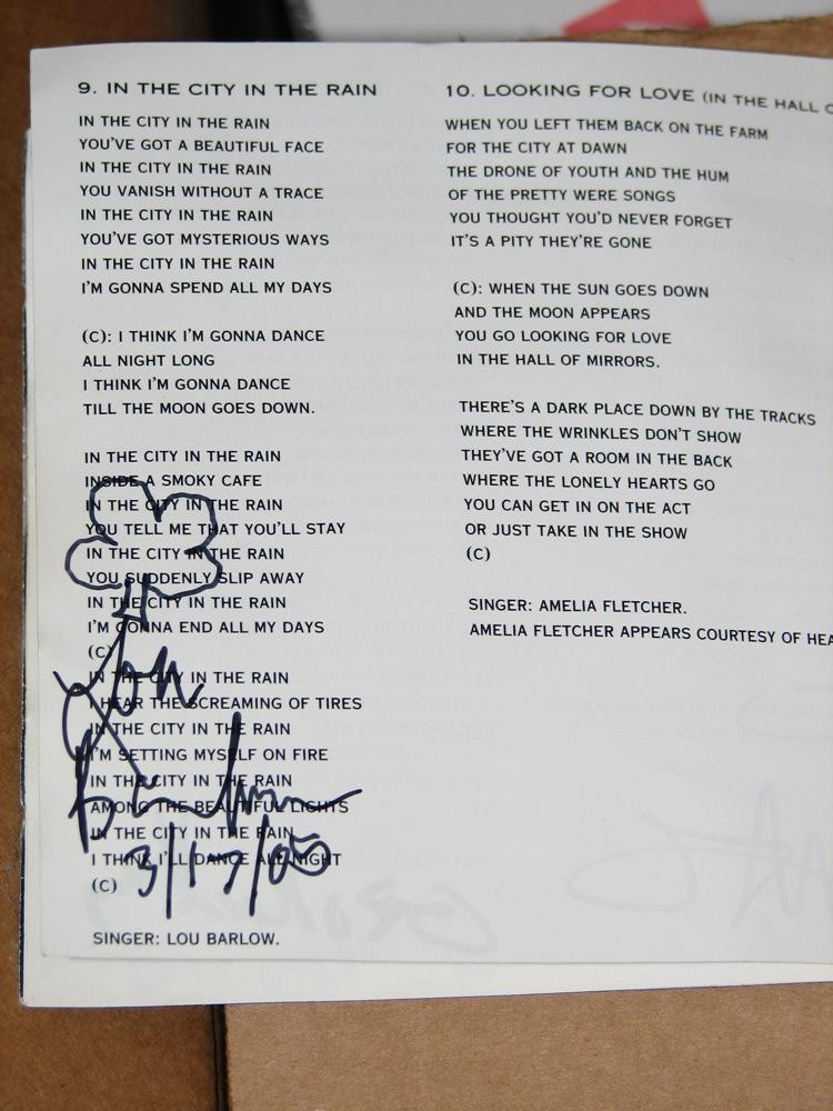6ths: Lou Barlow autograph