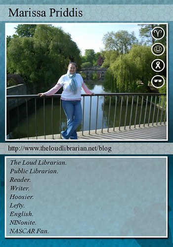 theloudlibrarian trading card