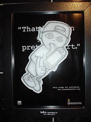 Sony PSP faux-street art