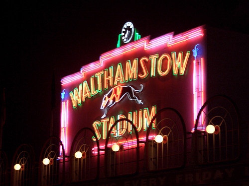 Walthamstow Stadium neon light extravaganza