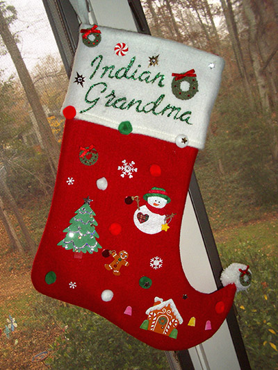 indian grandma's stocking