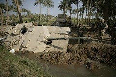 tank in canal usmc