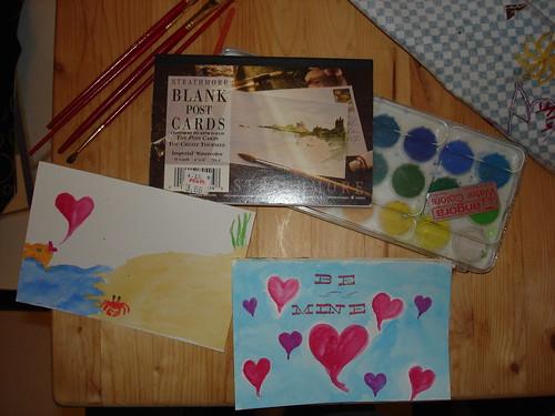 postcard valentines
