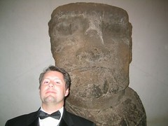 Chris with Easter Island Statue 2