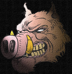The demon pig.