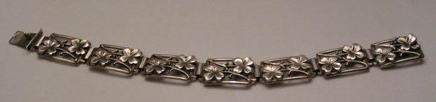 Klöverarmband i silver 1