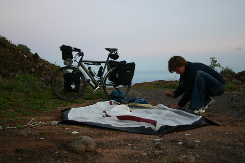 First night wild camping, near Playa Los Roques, Tenerife, JAN 2006