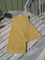 My First Knitting Project a Scarf (2004)