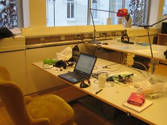 My desk at the Interactive Institue in Stockholm