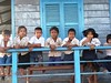 School children at a floating primary school, Prek Toal Wildlife Sanctuary