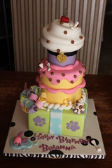Littlest Pet Shop inspired Stacked Party Cake photo by Andrea's SweetCakes