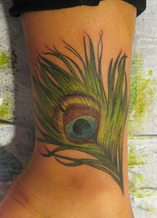 peacock feather tattoo photo by Tattoo Culture