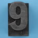metal type number 9