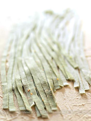 Tagliatelle verdi di grano duro