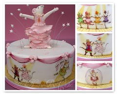 Angelina Ballerina Cake photo by neviepiecakes