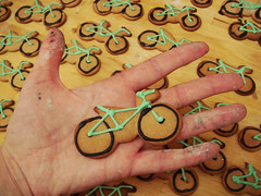Bike cookies photo by Alícia