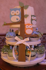 Owl forest cupcakes photo by jdesmeules (Blue Cupcake)