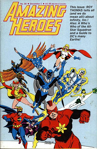 Jerry Ordway Infinity Inc Cover to Amazing Heroes 36, 1983