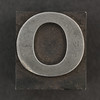Caslon metal type letter O