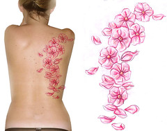 Back Flowers Tattoo Design photo by Chris Hatch Tattooist