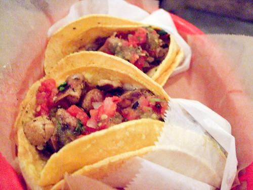 Pollo and Carnitas Tacos, Dos Toros