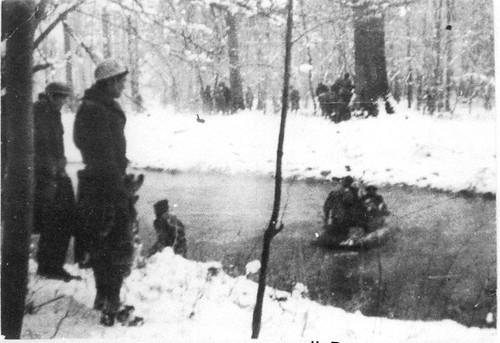 Alsace- 1945 - 25 janvier- Traversée de l'Ill par la 2e Compagnie du BM5 - Col. Raoul Vilain
