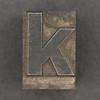 Caslon metal type letter k