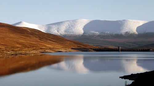 Loch Glascarnoch and the Glascarnoch Dam