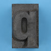 metal type letter q