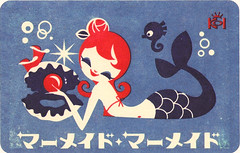 Yuki Koi Postcard. . . Mermaid photo by the gnome hut