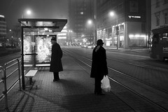 Foggy communication (between a man & a woman) photo by Gilderic Photography