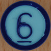 Colour Bingo blue number 6