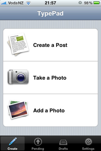 TypePad iPhone Application
