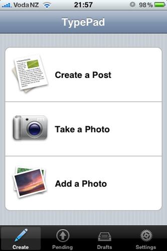TypePad iPhone Application