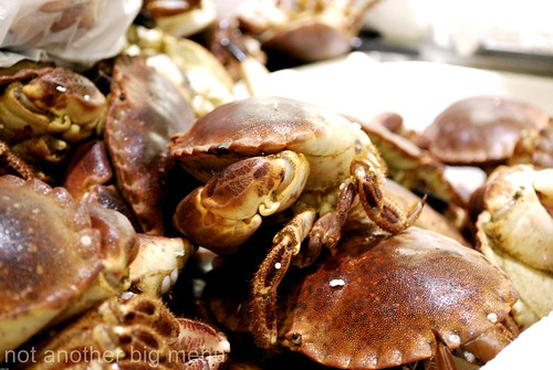 Billlingsgate fish market - crab 2