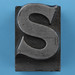 metal type letter S
