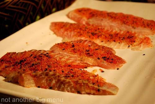 Jogoya, KL - Spicy sashimi