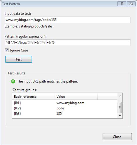 URL Rewrite Pattern Tester