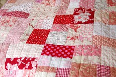 sweet redpink quilt photo by leslie.keating