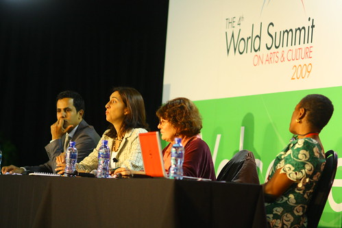 Roundtable session, day one of the 4th World Summit on Arts & Culture