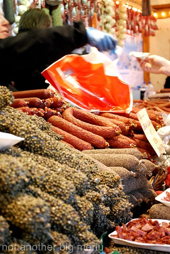Manchester Christmas market - sausage stall 6